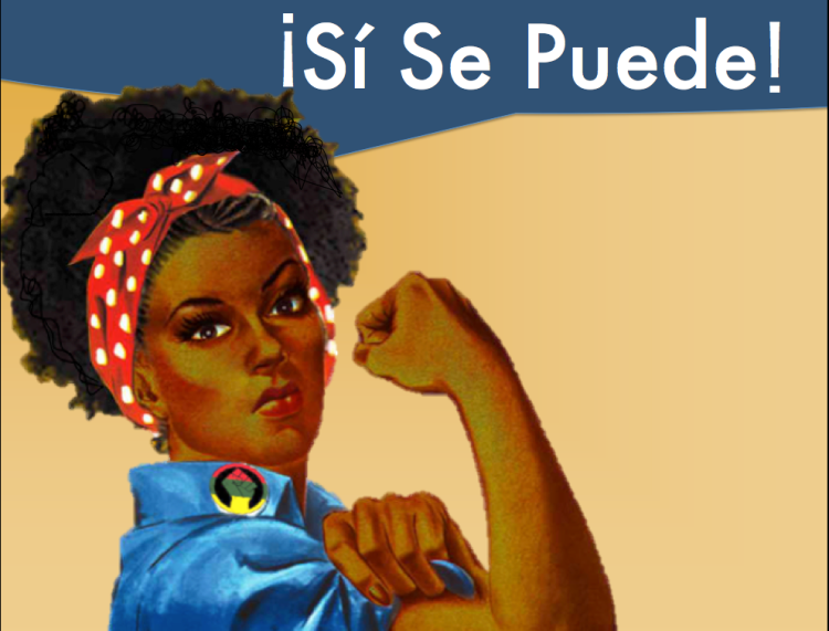 si se puede afro chicana rosie